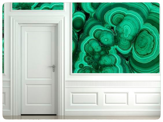 3d scene of a white classic wall with door and moldings